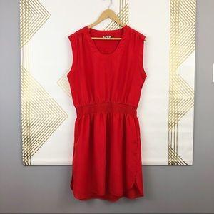 Eliza J Red Cinched Waisted Dress. Size 14